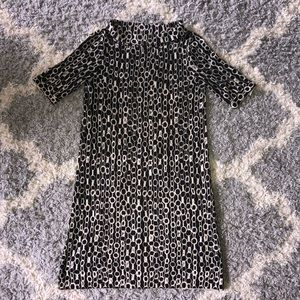 [J. Crew] Black/Cream Knit Mini Dress - Size XS